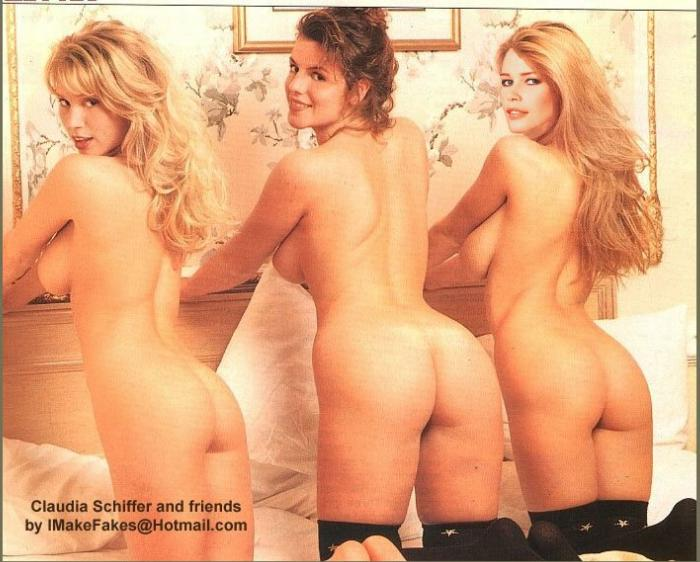 The Claudia schiffer fake porn And have